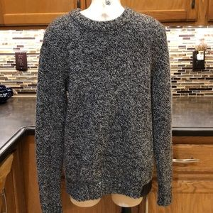 Superdry black & white knit sweater